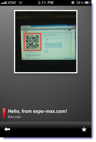 QR code on Google Goggles