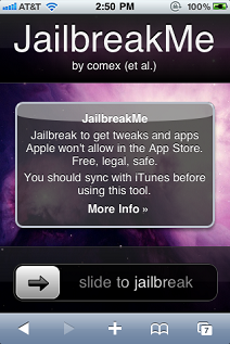 Jailbreak Me Screen